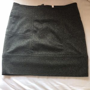 Sparkly black and gold mini skirt